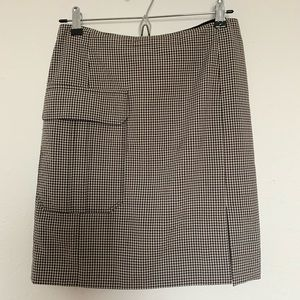 Versace checkered mini skirt with pocket and slit